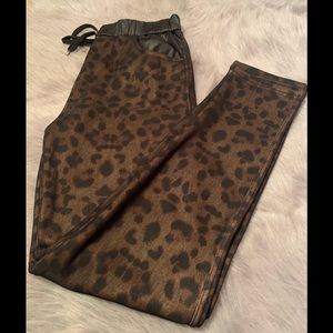 Animal Print Fleece Lined Leggings